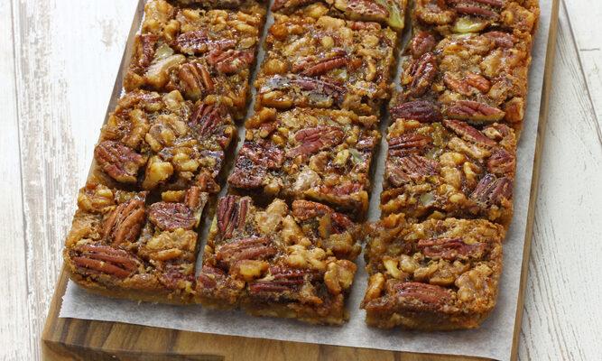 Healthier Maple Pecan Bars